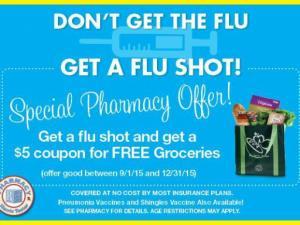 Harris Teeter flu shot promotion
