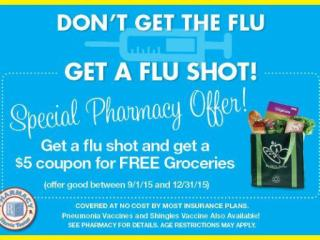 Harris Teeter flu shot promotion
