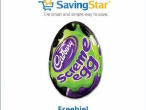 Free Cadbury Screme Egg through Savingstar