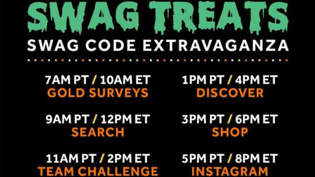 Swag Treats Swag Code Extravaganza