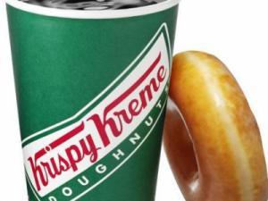 Krispy Kreme coffee and doughnut