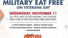 IMAGE: Veterans Day free offers for military today