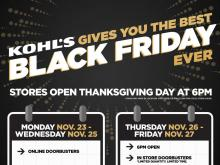 Kohl's Black Friday sales