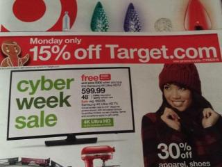 Target Cyber Monday ad 2015