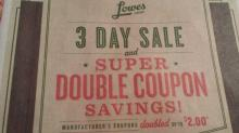 Lowes Foods Super Doubles Ad