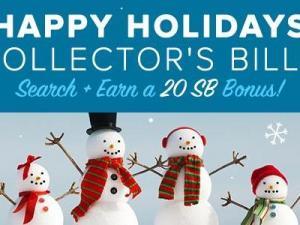 Swagbucks Happy Holidays Collector's Bills