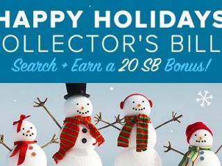 Swagbucks Happy Holidays Collector's Bills