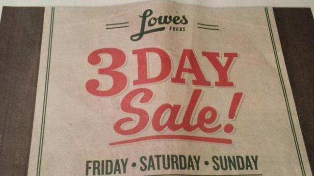 Lowes Foods 3-Day Sale