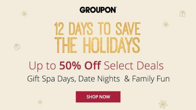 Groupon 12 Days to Save Promotion