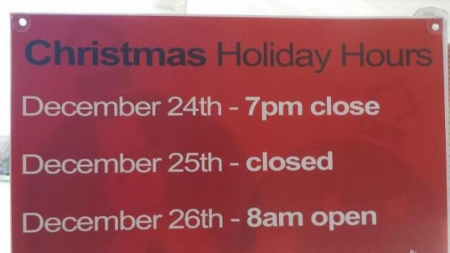 Is Walgreens Open On Christmas.Christmas Hours For Grocery Drug Stores Wral Com
