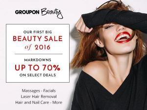 Groupon beauty sale