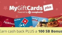 IMAGE: 100 SB bonus on select gift cards through MyGiftCardsPlus!