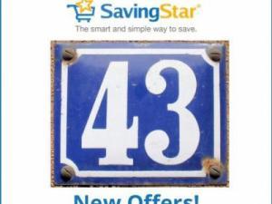 43 New Savingstar Offers!
