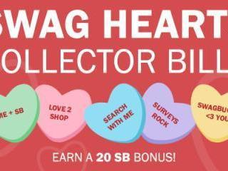 Swagbucks Swag Hearts Collector's Bills