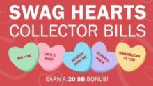 Swagbucks Swag Hearts Collector's Bills