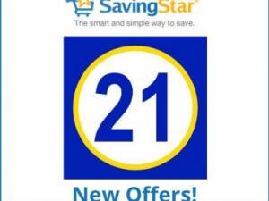 Savingstar: 21 new offers!