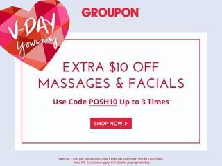 Groupon massage & facials discount