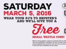 Bruster's free cone promotion