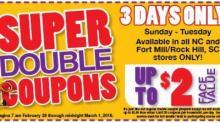 Harris Teeter Super Doubles 2/28 - 3/1/16