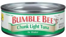IMAGE: Chicken of the Sea & Bumble Bee tuna recall