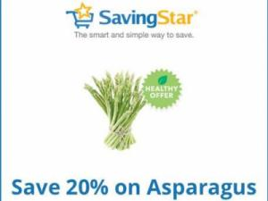 Savingstar asparagus offer