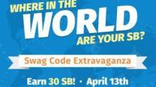 IMAGE: Swagbucks Swag Code Extravaganza today!