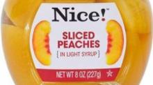 IMAGE: Recall: Nice! Peach Slices & Nice! Mixed Fruit