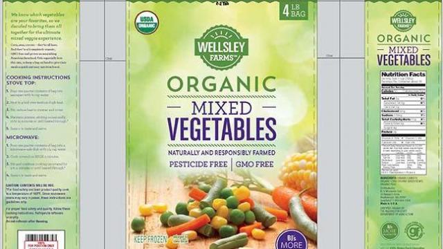 CRF Frozen Foods frozen vegetable and fruit recall