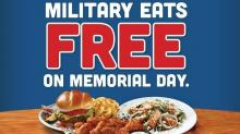 IMAGE: Free Hooters meal for military on Memorial Day