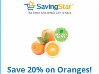Savngstar offer for 20% off oranges