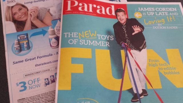 Parade Magazine coupons 6-5-16