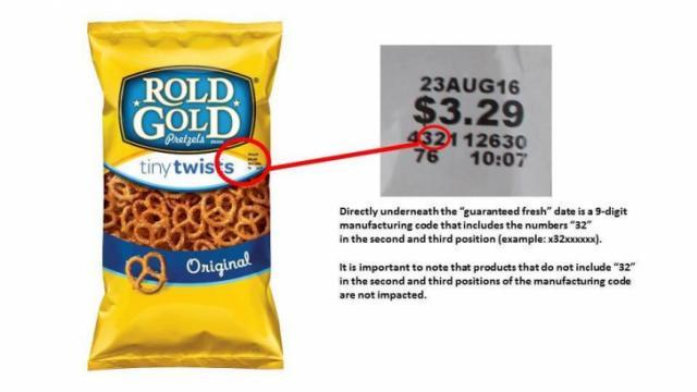 Rold Gold Pretzel Recall 6-2016
