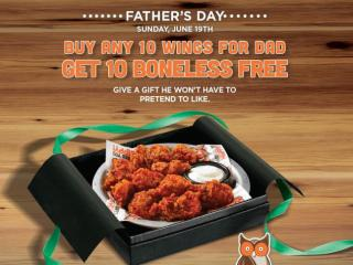 Hooters Father's Day 2016 Promotion