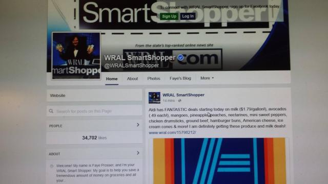 WRAL Smart Shopper Facebook page