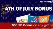 IMAGE: MyGiftCardsPlus 100 SB Bonus!