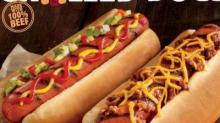IMAGE: Burger King grilled beef hot dogs $1 this weekend