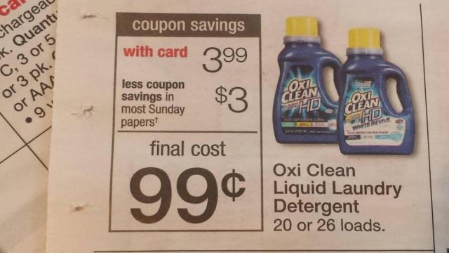 graphic about Oxiclean Printable Coupon named OxiClean for merely 99 cents this 7 days! ::