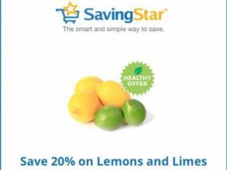 Savingstar lemons and lime offer