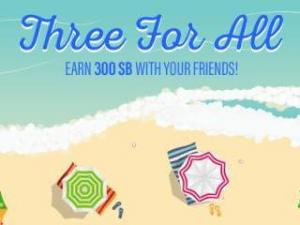 Swagbucks July Three for All