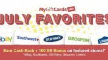 IMAGE: MyGiftCardsPlus July 100 SB Bonus today!