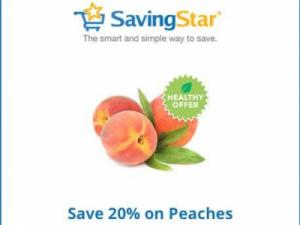 Savingstar peaches discount