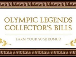 Swagbucks Olympic Legends Collector's Bills
