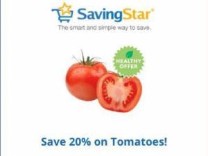 Savingstar tomatoes offer