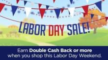 IMAGE: Swagbucks Labor Day Sale: Double cash back