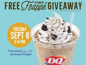 Free Dairy Queen Oreo Frappe (photo via DairyQueen.com)
