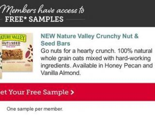 Nature Valley free sample