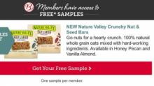 IMAGE: FREE sample of Nature Valley Crunchy Nut & Seed Bars