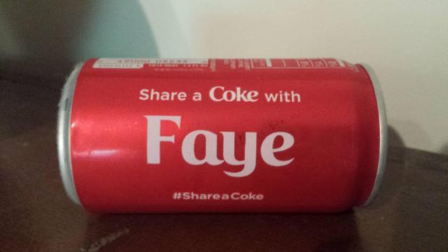 Faye's Coke can!