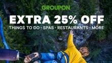IMAGE: Groupon 25% off sale until 5:59 pm today