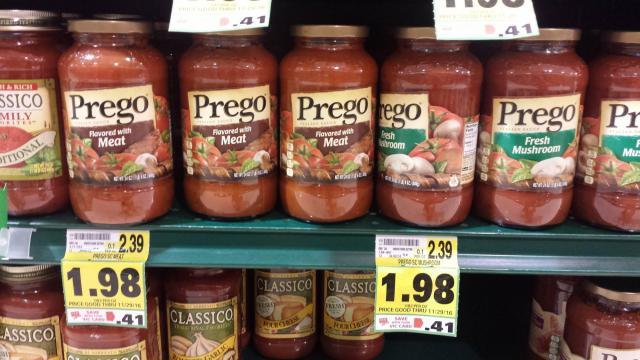 Prego on sale at Harris Teeter